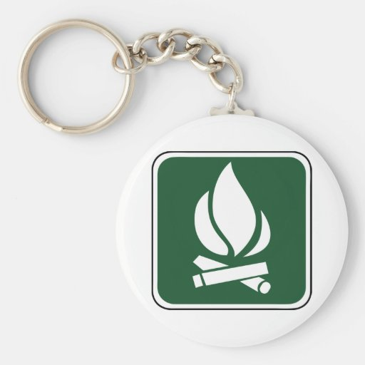 Vintage Campfire Sign Key Chain