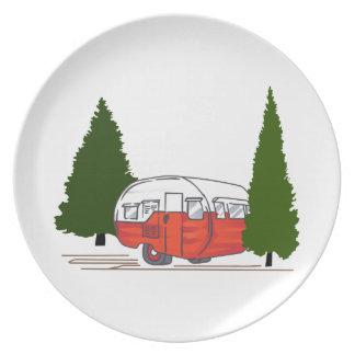 Vintage Camping Plates
