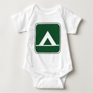 Vintage Camping Sign Baby Bodysuit