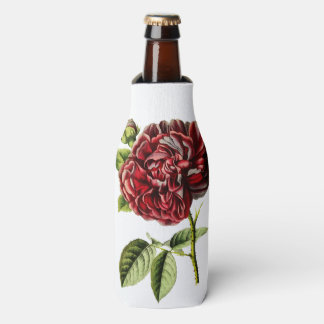 Vintage can cooler with Pink Rose
