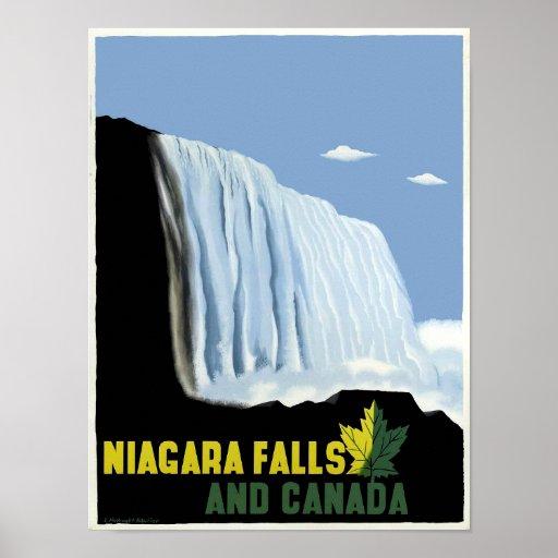 Vintage Canada and Niagara Falls Travel Poster