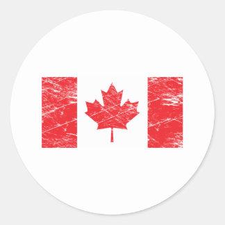 Vintage Canada Classic Round Sticker