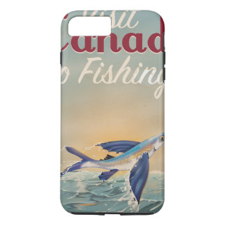Vintage Canada Fishing travel poster iPhone 7 Plus Case