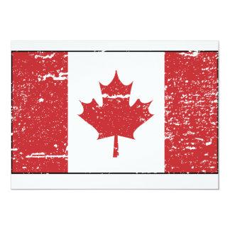 Vintage Canadian Flag Custom Invite