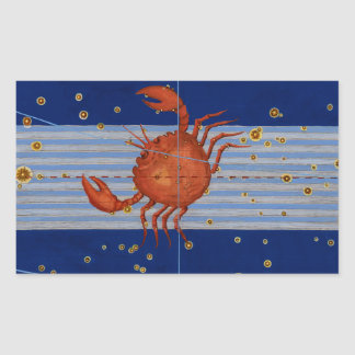 Vintage Cancer Star Chart Stickers