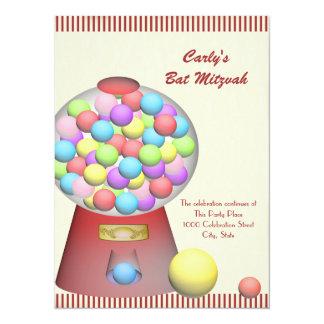 Vintage Candy Bat Mitzvah 14 Cm X 19 Cm Invitation Card