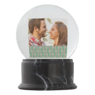 Vintage Candy Canes Pattern Snow Globe