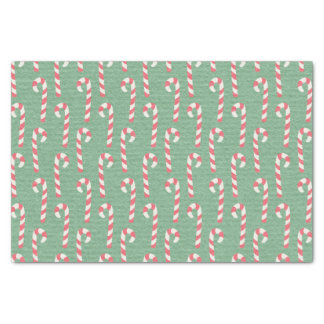 Vintage Candy Canes Pattern Tissue Paper
