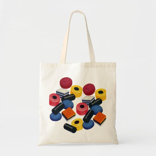 Vintage Candy Liquorice Allsorts All Sorts Tote Bag