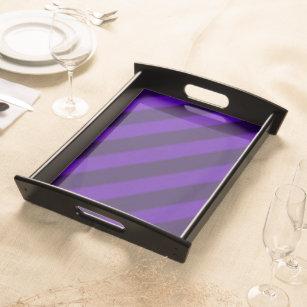 Vintage Candy Stripe Amethyst Purple Serving Tray