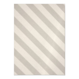 Vintage Candy Stripe Beige Taupe Magnetic Invitations
