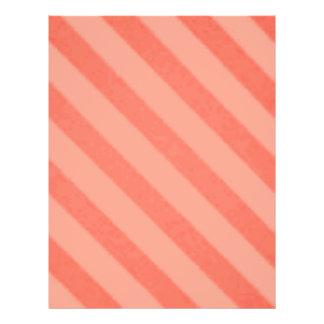 Vintage Candy Stripe Tangerine Orange Sherbet 21.5 Cm X 28 Cm Flyer