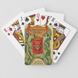 Vintage Canned Salmon Recipes Playing Cards