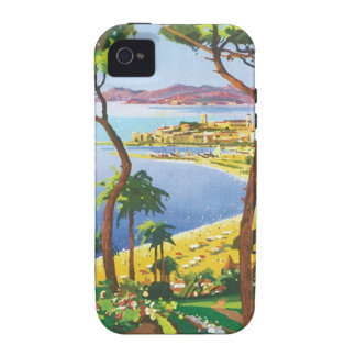 Vintage Cannes Cote D azur Case-Mate iPhone 4 Covers