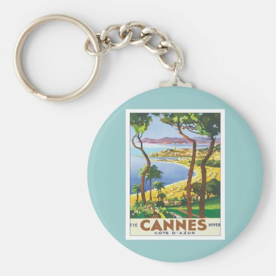 Vintage Cannes Cote D'azur Key Ring