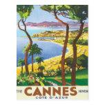Vintage Cannes Cote D'azur Postcard