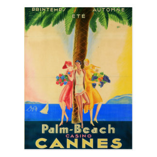 Vintage Cannes French Travel Postcard