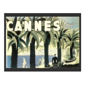 Vintage Cannes Travel Advertisement Postcard