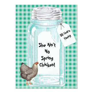 Vintage Canning Jar Design Card