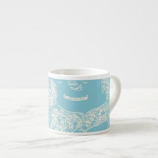 Vintage Cape Cod Map Espresso Mug