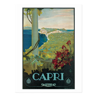 Vintage Capri Italy Travel Ad Post Cards