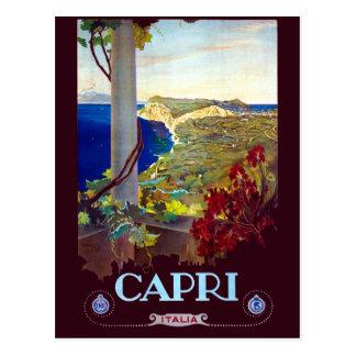 Vintage Capri Italy Travel Postcard