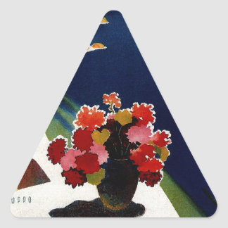 Vintage Capri Italy Travel Triangle Sticker