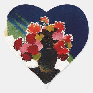Vintage Capri Italy Travel Heart Sticker