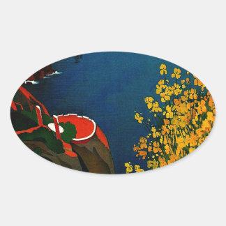 Vintage Capri L'Isola del Sole Italy Oval Sticker