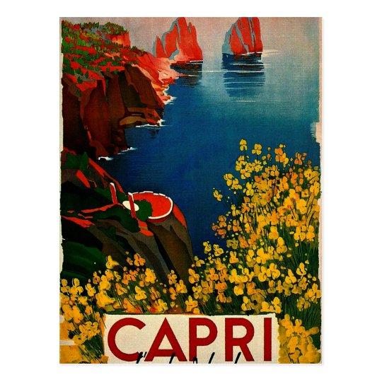 Vintage Capri L'Isola del Sole Italy Postcard