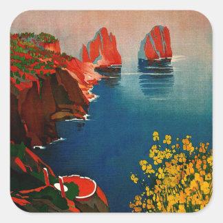 Vintage Capri L'Isola del Sole Italy Square Sticker