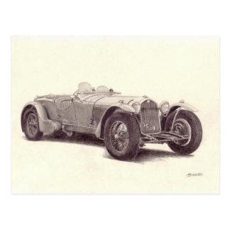Vintage Car: Alpha Romeo 8C Post Card