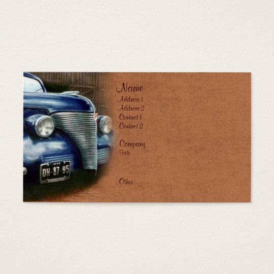 Vintage Car Business Card