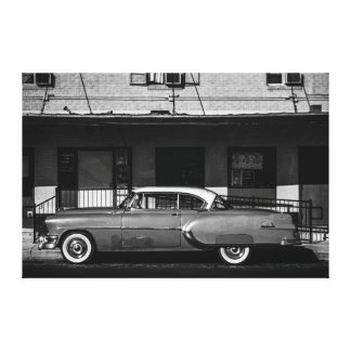 Vintage Car Stretched Canvas Print