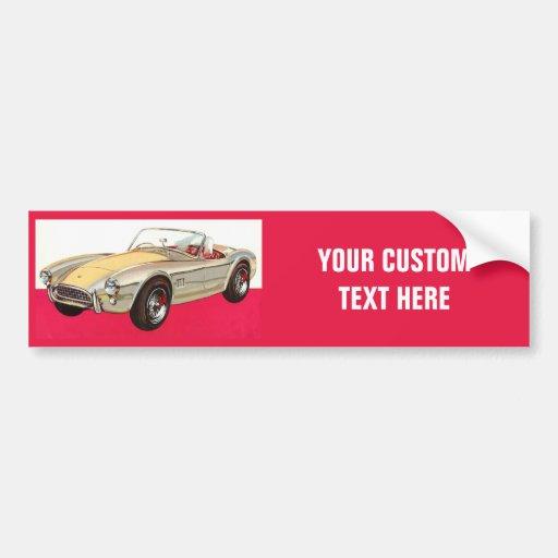 Vintage car custom bumpersticker bumper sticker