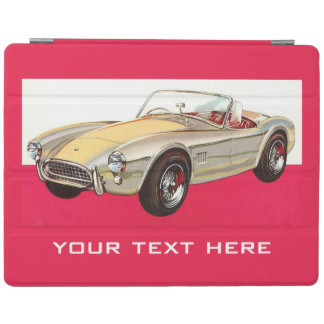 Vintage car custom device covers iPad cover