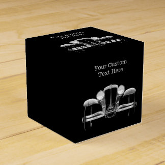 Vintage car custom favor boxes