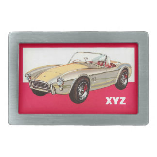 Vintage car custom monogram belt buckle
