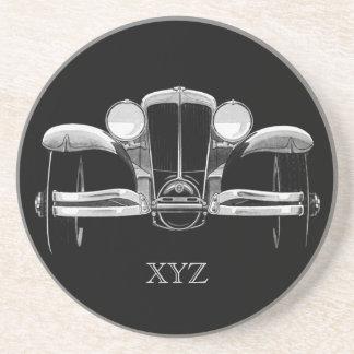 Vintage car custom monogram coaster