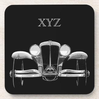 Vintage car custom monogram coasters