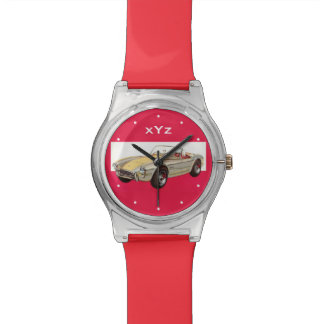 Vintage car custom monogram watches