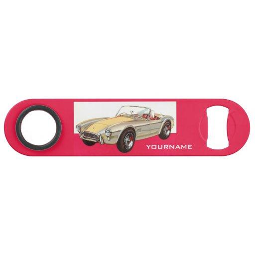 vintage car custom name bottle opener zazzle. Black Bedroom Furniture Sets. Home Design Ideas