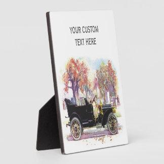 Vintage car custom plaque