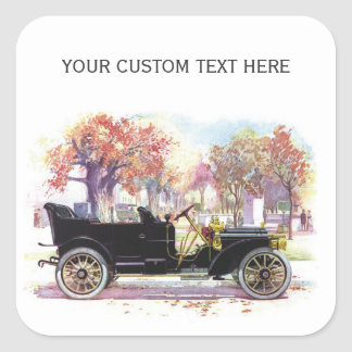 Vintage car custom stickers