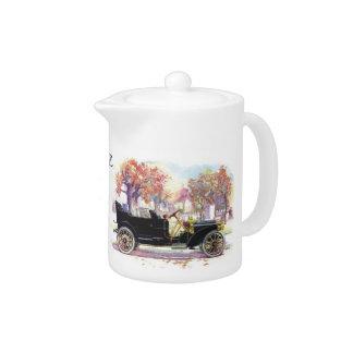 Vintage car custom teapot