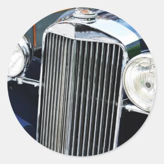 Vintage car design classic round sticker