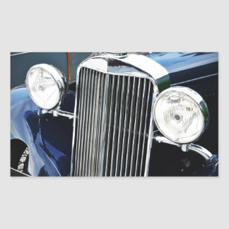 Vintage car design rectangular sticker