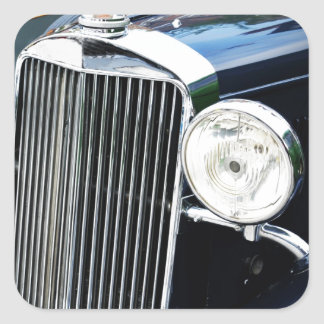 Vintage car design square sticker