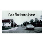 Vintage Car Driving on Road Business Card