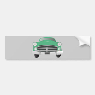 vintage_car_GREEN GRAY OLD-FASHIONED CAR graphic Bumper Stickers